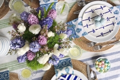 Navy patterned plates