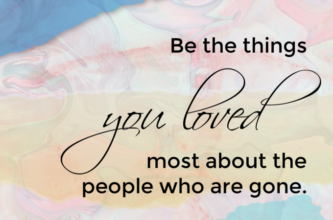 Be the things…