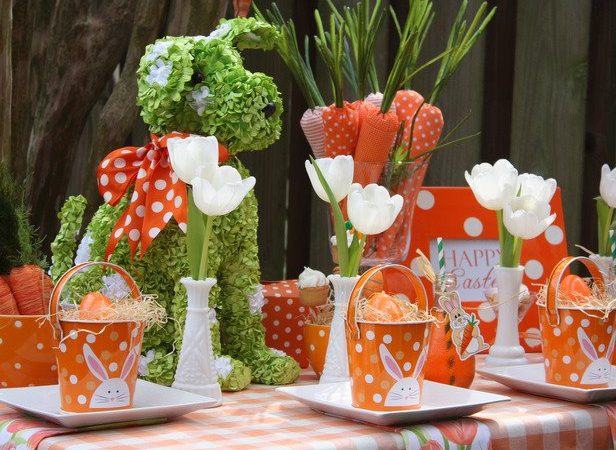 Forget Pastels! Easter Tablescapes