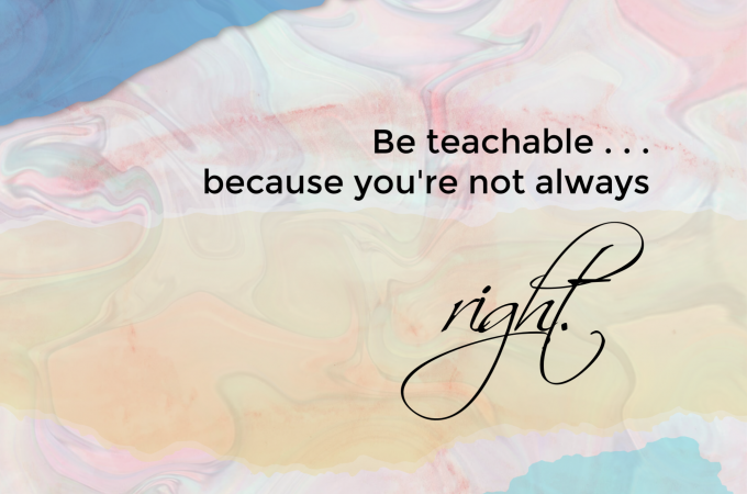 Be Teachable